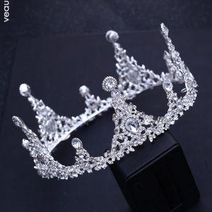 Glitzernden Silber Diadem 2018 Metall Strass Hochzeit Brautaccessoires