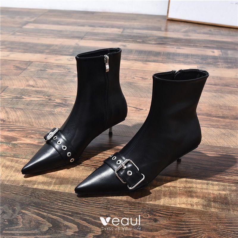 Fashion Black Casual Low Heel Womens