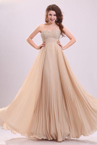 2015 Sweet Empire Waiste Sleeveless No Train long Evening Dresses