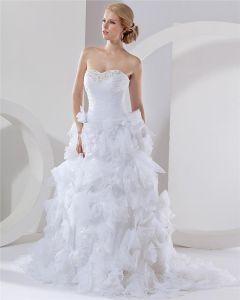 Satyna Organzy Aplikacja Warstwowa Kochanie Katedra Suita Suknia Balowa Suknie Ślubne Suknia Ślubna