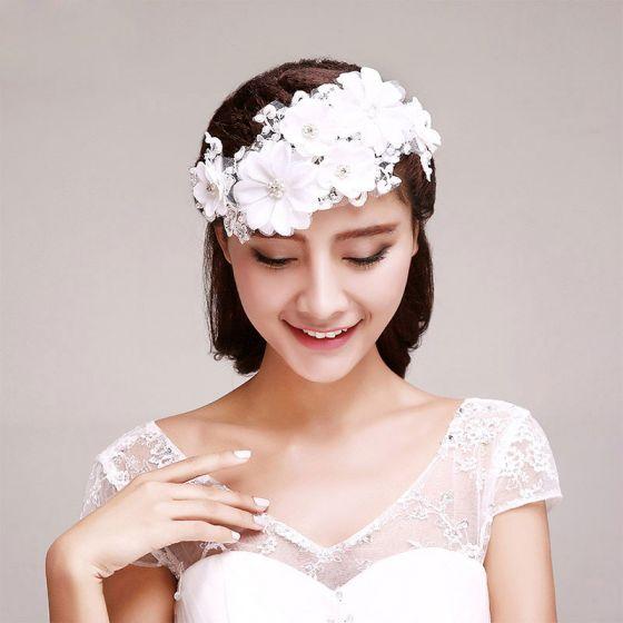 Rhinestone Petal Bridal Headpieces / Lace Head Flower / Wedding Hair Accessories / Wedding Jewelry