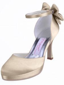 Chaussures Chaussures De Mariage A La Main Personnalise De Fete Satin Papillon