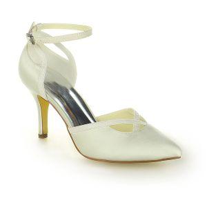 Élégant Bout Pointu Talons Aiguilles 3 Pouces Haute Chaussures De Soirée Chaussures De Mariée
