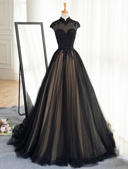 Vestidos de gala de encaje negro