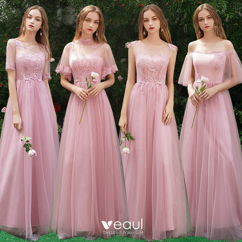 Candy Pink Bridesmaid Dresses