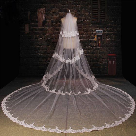 175 cm Long Tailing Lace Laciness Veil Soft Yarn Material