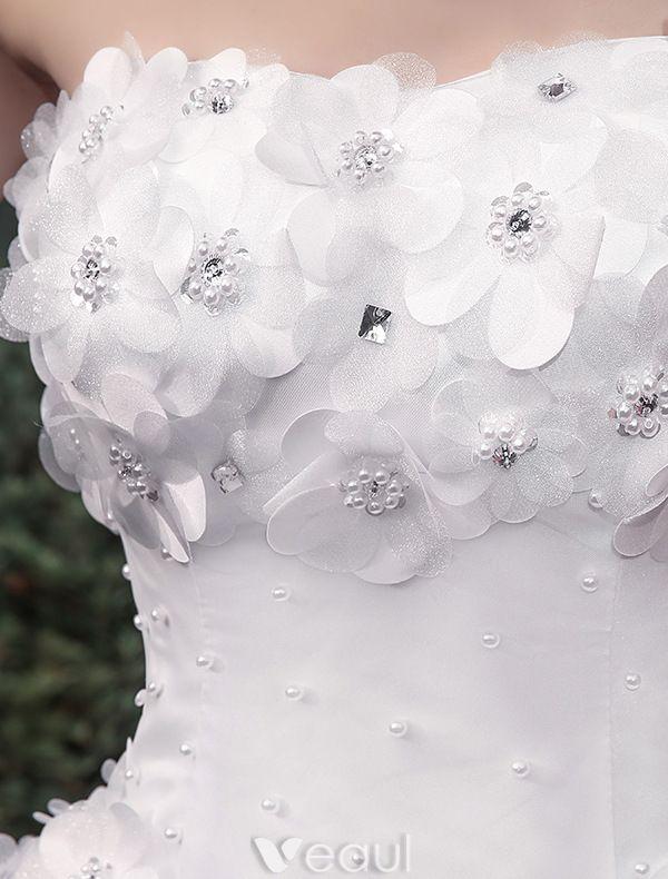 Glamourösen Hochzeitskleider 2016 Ballkleid Applique Weißem Tüll Brautkleid Mit Langer Schleppe