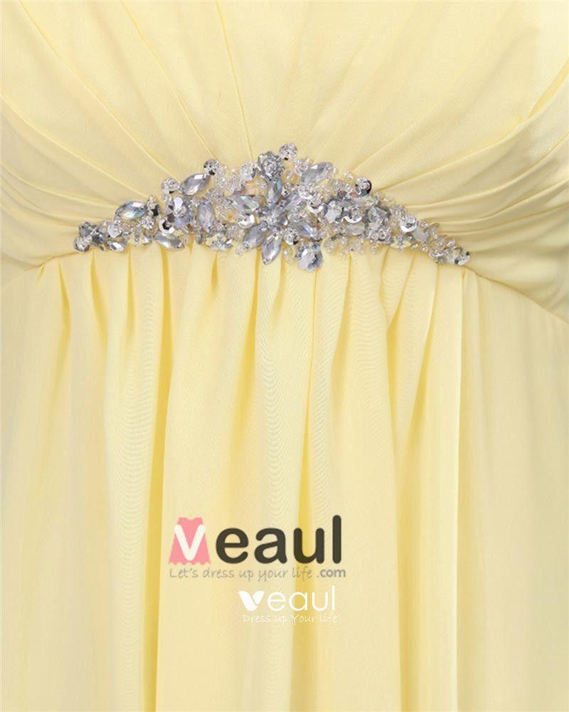 Chiffon Sweetheart Ruffle Floor Length Bridesmaid Dress Gown