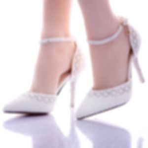Chic / Beautiful White Womens Shoes 2017 Beading Pearl Wedding Wedding Shoes
