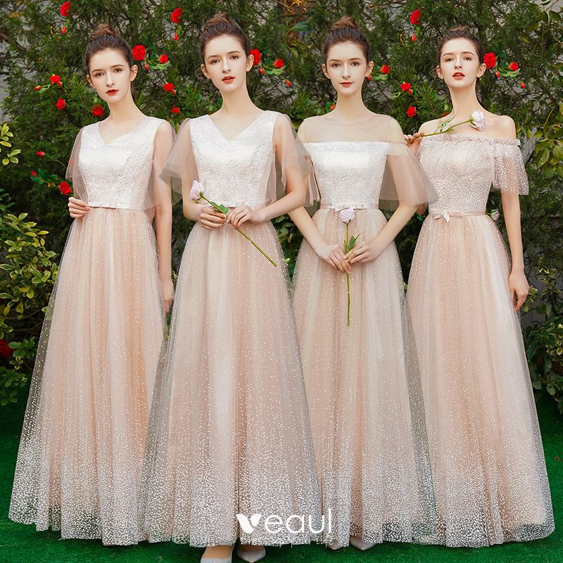 Elegant Champagne Bridesmaid Dresses