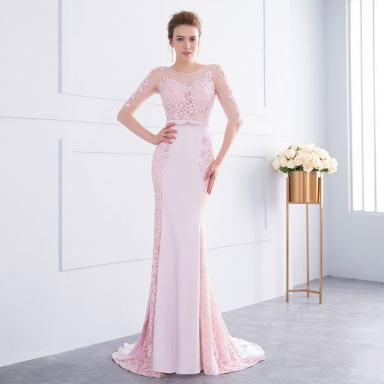 c03294f737c chic-beautiful-candy-pink-evening-dresses-2018-trumpet-mermaid-lace-flower- beading-bow-scoop-neck-1-2-sleeves-backless-sweep-train-formal-dresses -560x560.jpg