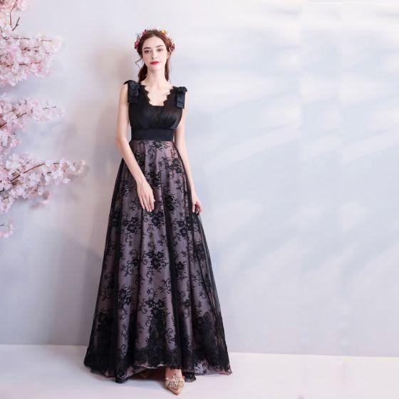 Vestidos largos de tul negro