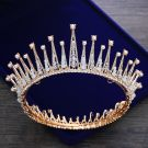Luxury / Gorgeous Gold Tiara 2018 Metal Beading Pearl Rhinestone Accessories