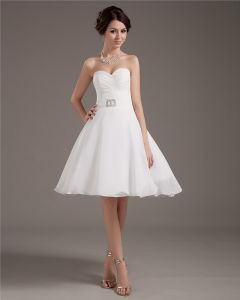 Taffeta Yarn Short Bridal Gown Wedding Dress