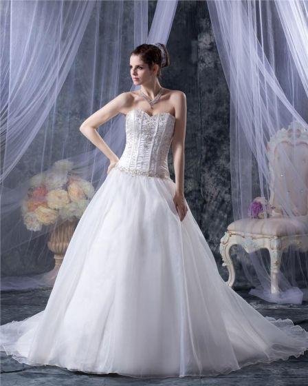 Garn Schatz Applique Kapelle Brautballkleid-hochzeitskleid