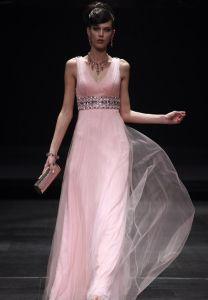 Perlen Mit V-ausschnitt A-linie Bodenlange Frauen Abendkleider