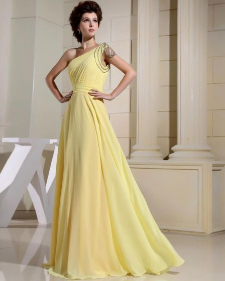 Chiffon Rhinestone Pleated Floor Length Backless Sleeveless Woman Evening Dress