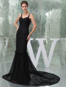 2015 Elegant Mermaid Sweetheart Spaghetti Straps Sheath Lace Evening Dress
