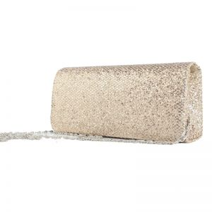 Sparkly Bling Bling Gold Clutch Bags Glitter Velour Cocktail Party Evening Party Accessories 2019