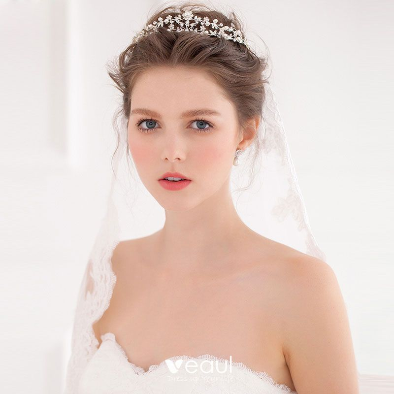 Pearl Crown Bride Wedding Tiara Princess Jewelry Wedding Women Bride Jewelry
