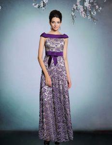 2015 Elegant Spitze Mit Perlen Verziert Langes Abendkleid
