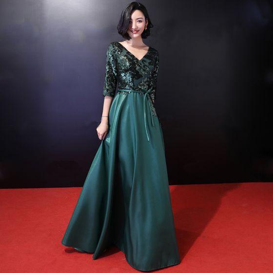 86badfb379f chic-beautiful-dark-green-evening-dresses-2018-a-line-princess-sequins-bow-v -neck-backless-3-4-sleeve-floor-length-long-formal-dresses-560x560.jpg