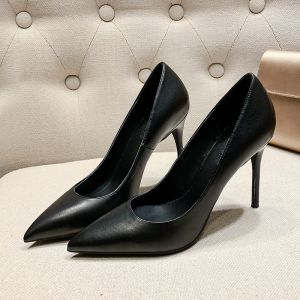 Modest / Simple Black Office OL Pumps 2020 10 cm Stiletto Heels Pointed Toe Pumps