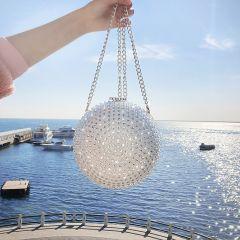 Modern / Fashion Silver Beading Rhinestone Clutch Bags 2019 Accessories