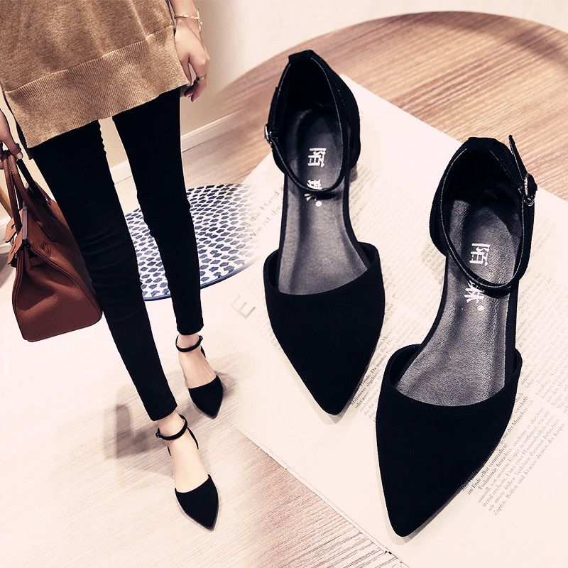 Chic / Beautiful Womens Shoes Outdoor / Garden 2017 Leather PU Suede Low Heel Pointed Toe Sandals
