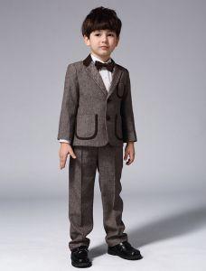 Kinder Braune Anzüge, Anzüge Jungen Hochzeit 4 Sätze