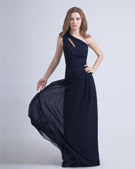 Elegant Charming One-Shoulder Chiffon Evening Party Dress
