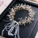 Elegant Gold Headbands 2020 Alloy Crystal Lace-up Headpieces Wedding Bridal Hair Accessories