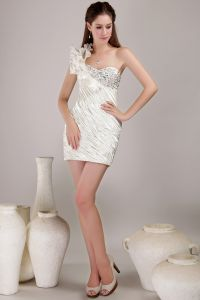 2015 One Shoulder Sweetheart Sheath Short Cocktail Dress