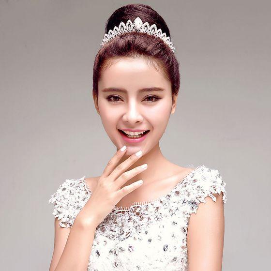 Mode Elegante Strass Bruidssieraden Tiara Haaraccessoires