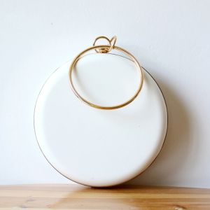 Modest / Simple White Round Clutch Bags 2020