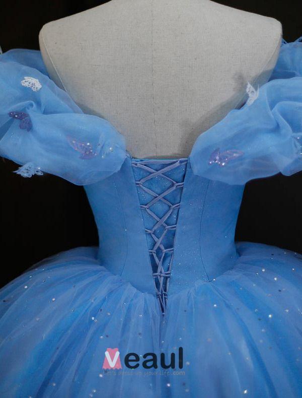 Luxe High-grade 2015 Cinderella Jurk Film Kostuum Galajurken