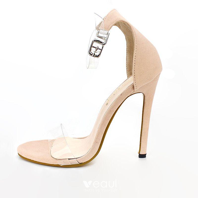 Moda Minimalistyczny Czarne Przypadkowy Sandały Damskie 2020