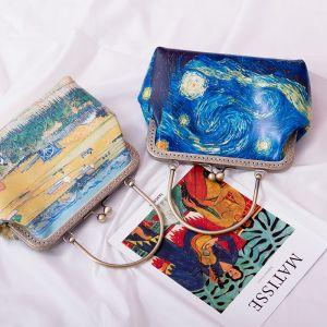 Vintage Bemalte Clutch Tasche 2020