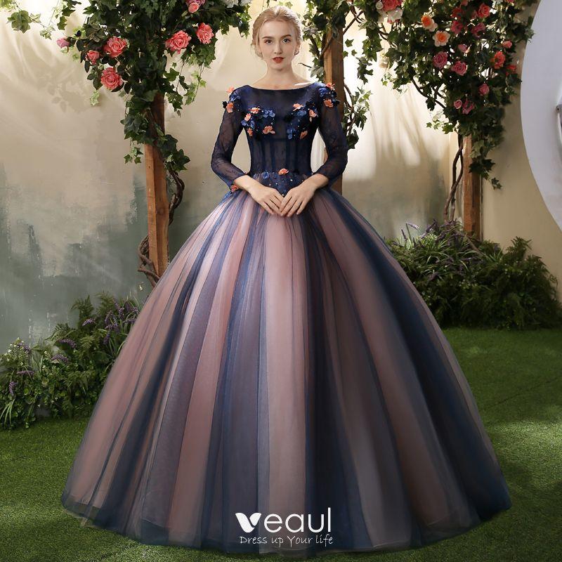 Elegant Royal Blue Quinceañera Prom Dresses 2018 Ball Gown