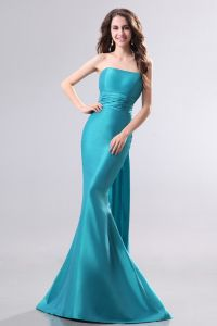 2015 Sexy Blue Panel Mermaid long Evening Dresses