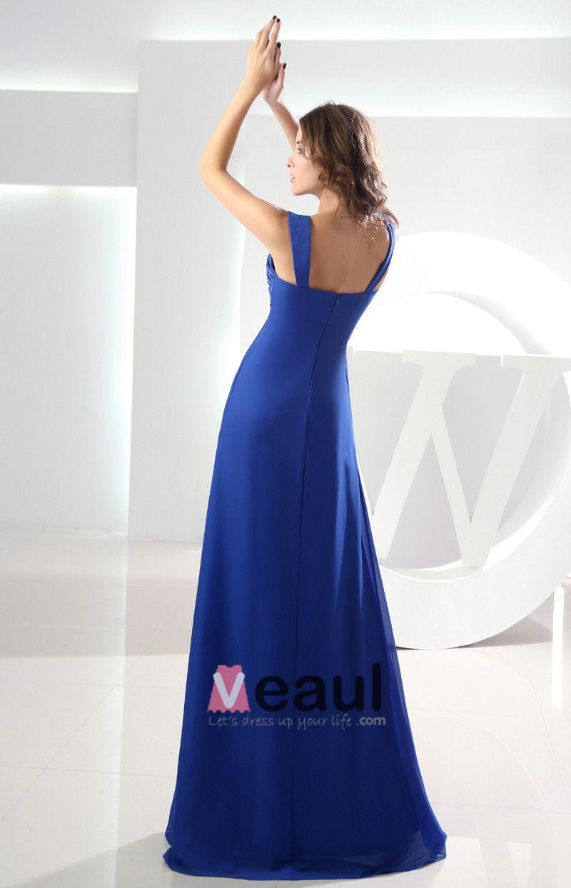 Sweetheart Sleeveless Pleated Zipper Floor Length Chiffon Woman Bridesmaid Dress