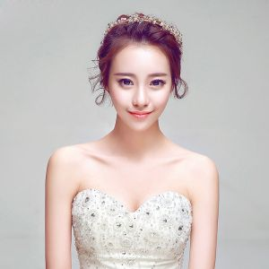 Fashion Golden Rhinestone Bridal Headpiece /Head Flower / Wedding Hair Accessories / Wedding Jewelry