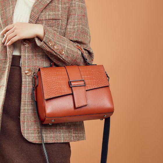 Mode Tan Carrés Sac à main Sacs à bandoulière Sac de messager 2021 Motif Alligator Cuir Sacs Pour Femmes