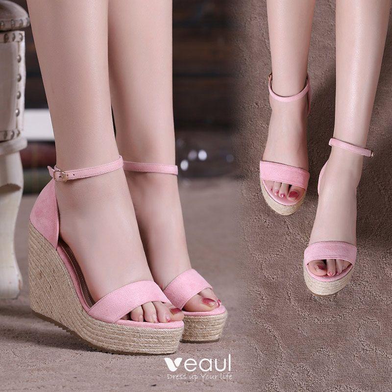 Outdoor / Garden Chic / Beautiful Womens Sandals 2017 PU Braid Wedges Open / Peep Toe Sandals