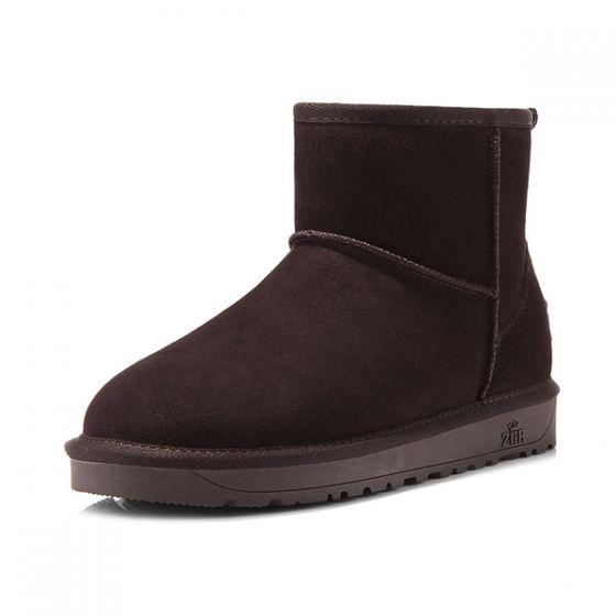 Damer Mini Kort Ankel Vinter Sne Støvler