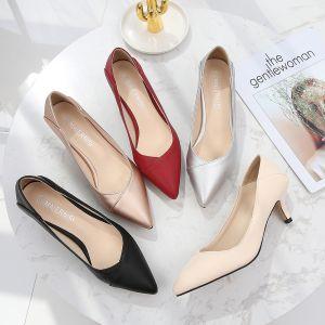 Modest / Simple Office OL Pumps 2020 5 cm Stiletto Heels Pointed Toe Pumps