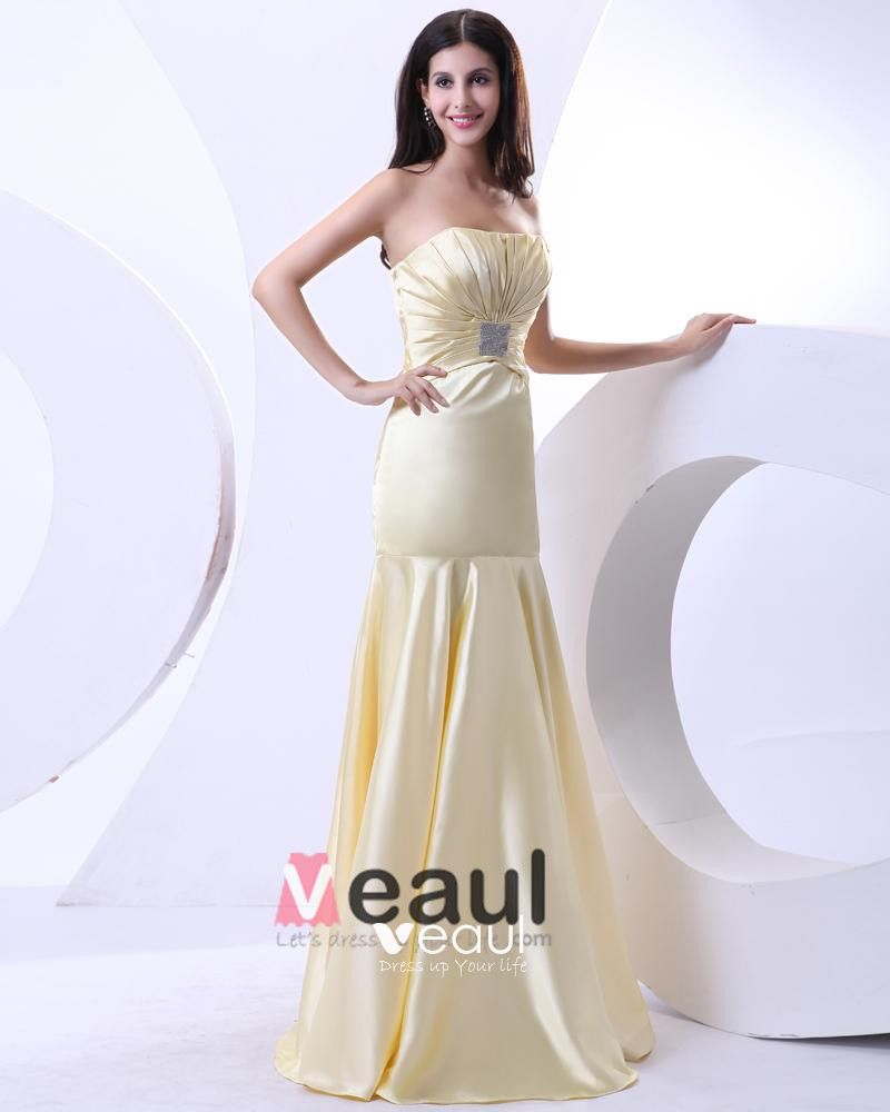 Beading Ruffle Sweetheart Satin Floor Length Evening Dress