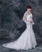 Lace Beading Sweetheart Neck Sheath Wedding Dress