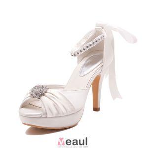 Fish Head Waterproof Bridal Shoes / Wedding Shoes