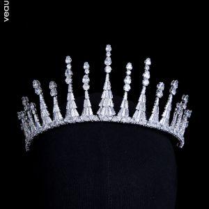 Klassieke Zilveren Zirkonium Tiara Bruids Haaraccessoires 2020 Bruids Accessoires